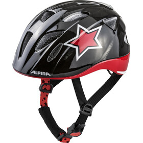 Alpina Ximo Flash Helmet black-red-white star